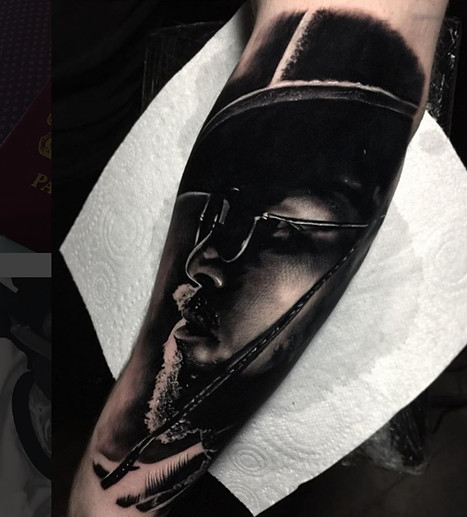 Django Portrait Tattoo
