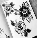 rose designs on a tattoo flash sheet.jpg