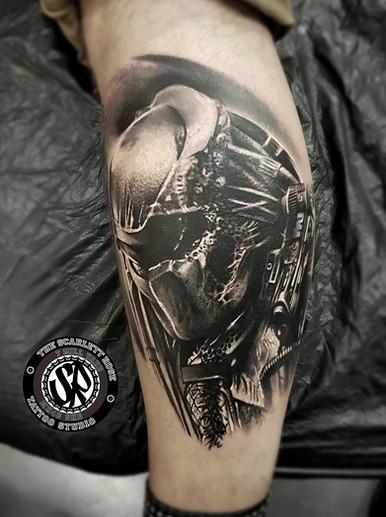 Realistic tattoo done by tattoo artist
