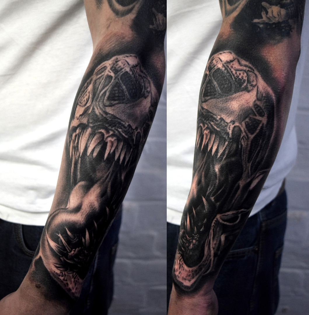 Arm forearm tattoo
