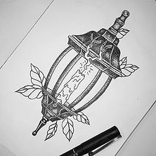 Available lantern design by our apprenti
