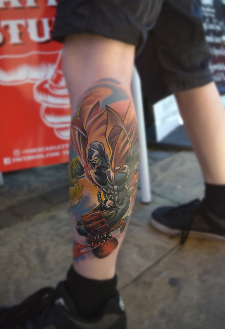 Colour Spawn comic Tattoo