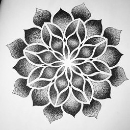 Hand drawn Mandala tattoo design