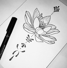 Lotus tattoo design
