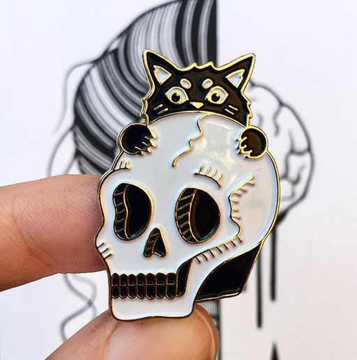 Custom enamel pin made by @hauntedhattie