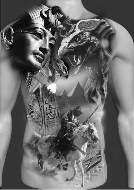 Egypt full Torso tattoo design