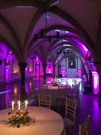 Set ready for wedding @ bishops palace wells