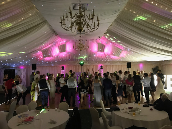 Full dancefloor at batch country house