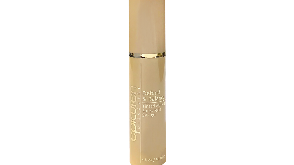 DEFEND & BALANCE TINTED MINERAL SUNSCREEN SPF 50