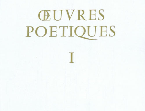 Oeuvres Poétique - Tome I