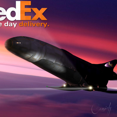 FedEx - Same day delivery.