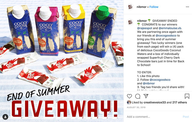 Instagram Giveway Post