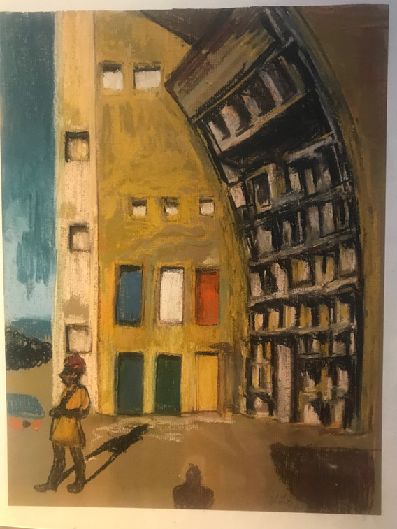 A3 - Pastel on paper - Titled 'Indian mu