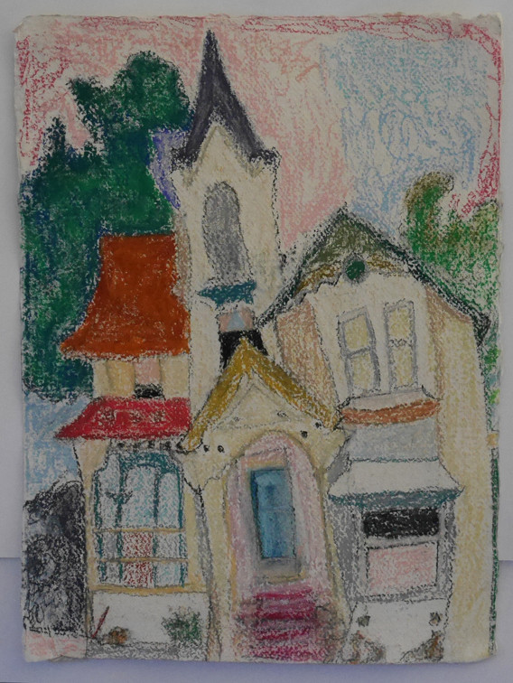 A3 - Pastel on handmade paper - Titled '