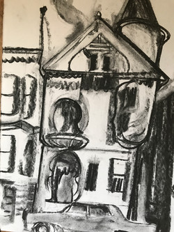 Painted Lady Charcoal. San Francisco