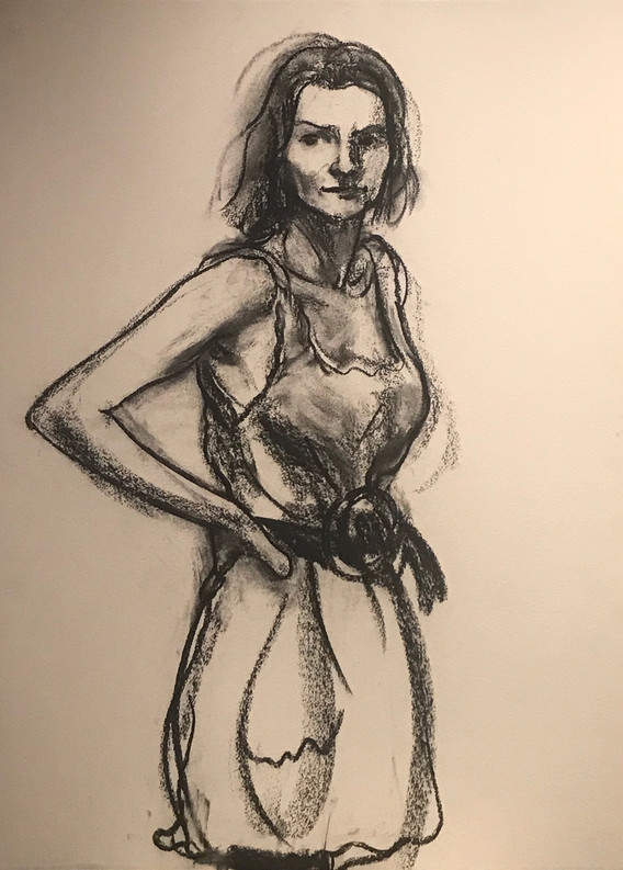 A1 - Charcoal on paper - Titled 'Kathryn