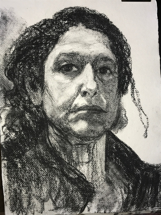 A3 - Charcoal on handmade paper - Titled