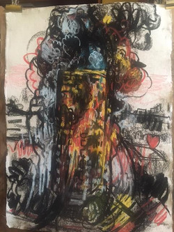 Greenfell Tower Fire Pastel 1