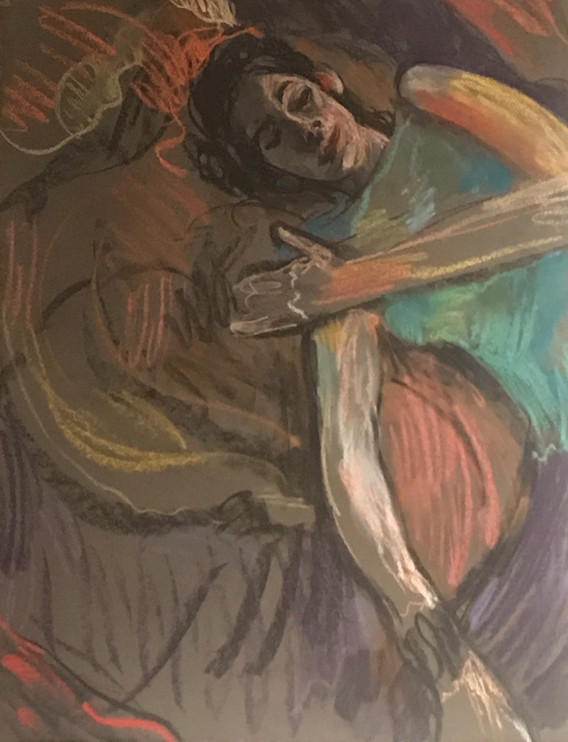 A1 - Pastel and Charcoal on paper - Titl