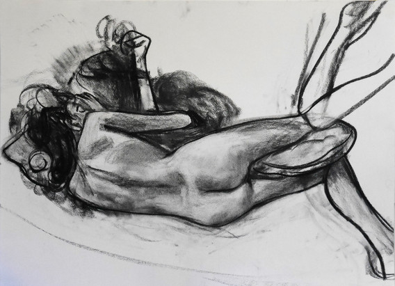 A1 - Charcoal on paper - Titled 'Penny f