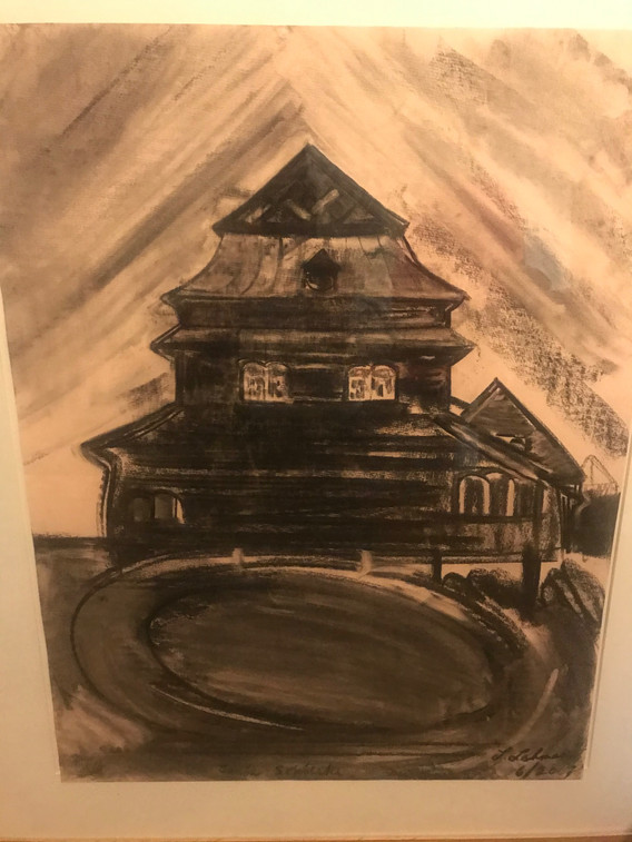 A1 - Charcoal on paper - Titled 'Janow S