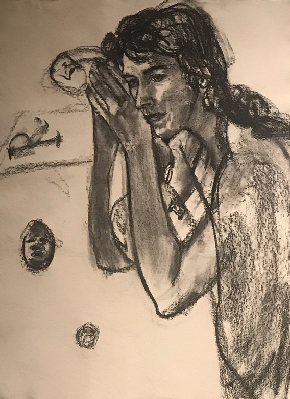 A1 - Charcoal on handmade paper - Titled