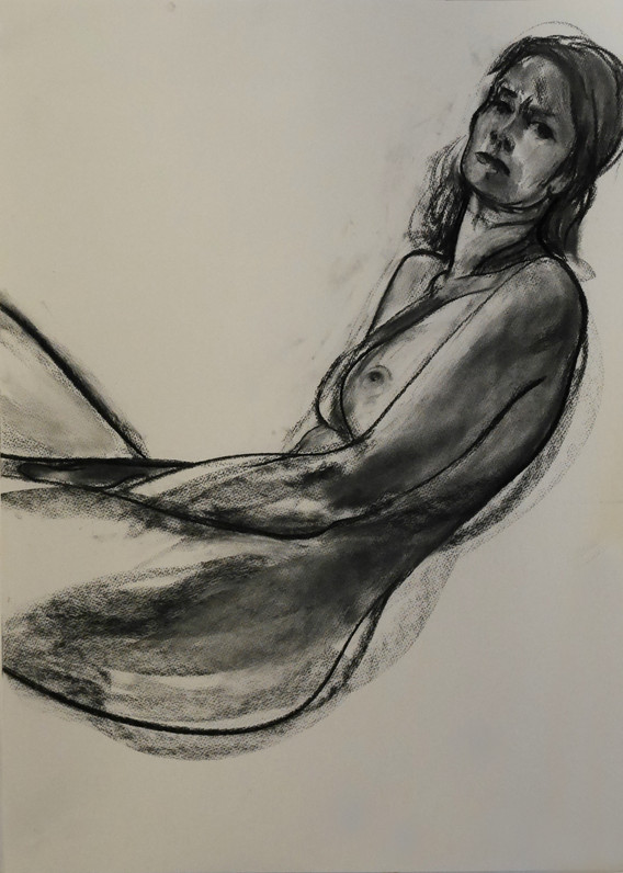 A1 - Charcoal on paper - Titled 'Helen'.
