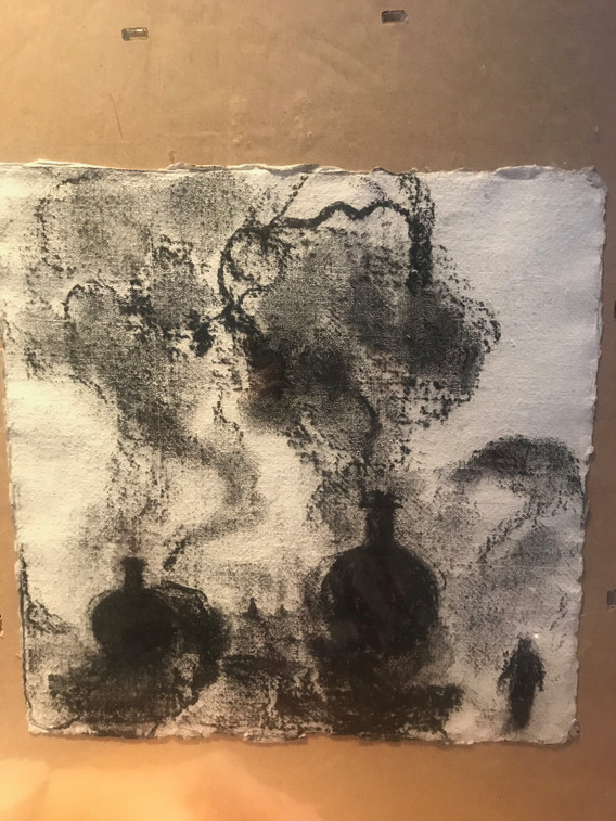 A4 - Charcoal on handmade paper - Titled