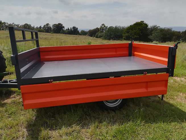 5 Ton Tipper Trailer side open orange.jp