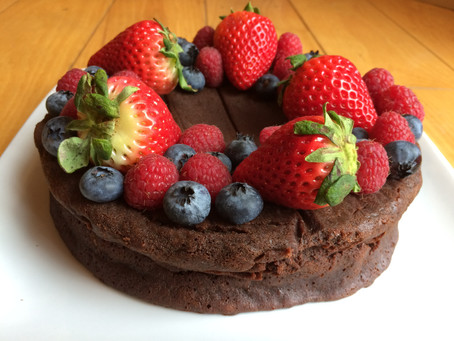 Flourless Chocolate Berry Cake