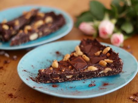 Raw Peanut-Chocolate-Cake