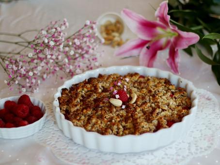 Himbeer-Quinoa-Nuss-Crumble