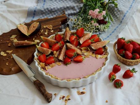 Erdbeer-Feigen Rohkost Torte