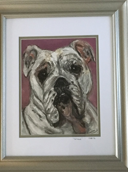 8X10 Print- matted & framed (from your original pawtrait)