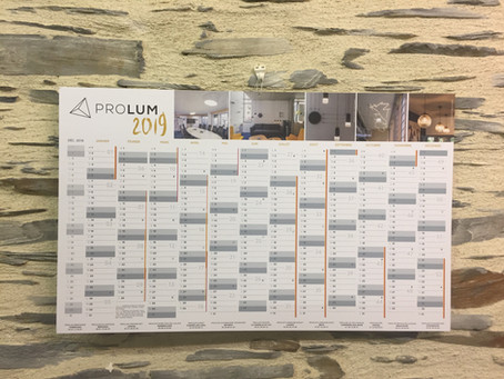 Calendrier PROLUM 2019