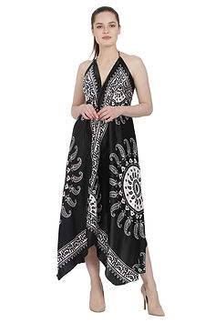 Advance Apparels Batik Print Scarf Dress