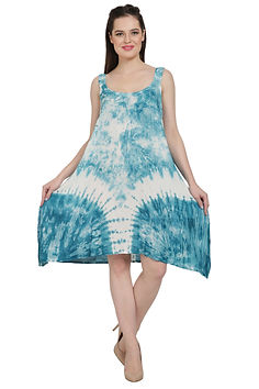 Advance Apparels Tie Dye Umbrella Dress