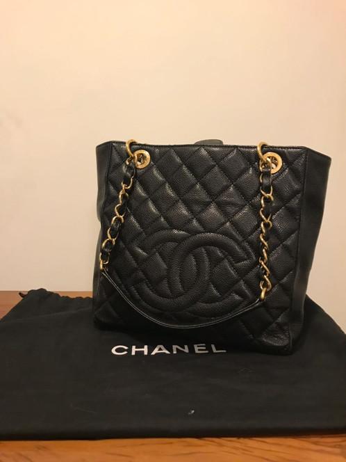 46837c689 Bolsa Chanel Shopper Matelassê Original Preta
