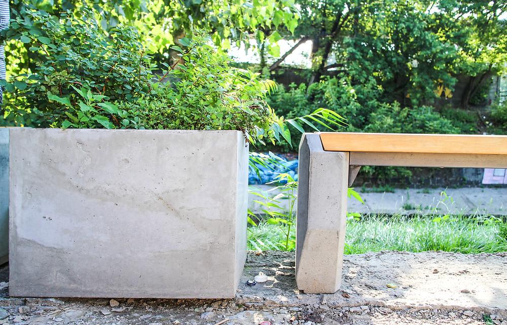Вазоны из бетона для социального проекта Лыбидь 7.0