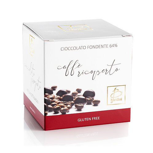 Chicchi di caffè ricoperti di cioccolato fondente al 64%
