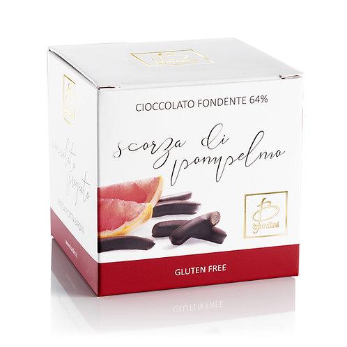 Scorze di pompelmo ricoperte di cioccolato fondente al 64%