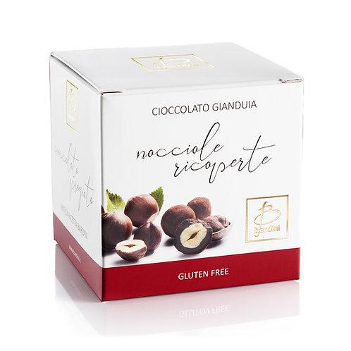 Nocciole ricoperte di cioccolato al gianduia