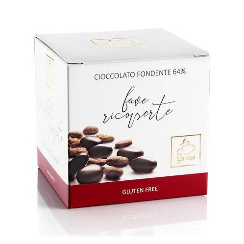 Fave di cacao ricoperte di cioccolato fondente al 64%