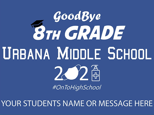 Personalized UMS 8th Grade Yard Sign