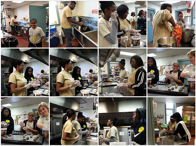 The Church The Body Of Christ prepares dinner for the guest at Ronald McDonald House of Delaware - New Year's Day Dinner
