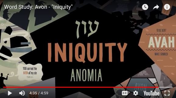 View this EXCELLENT short video from The Bible Project on Iniquity