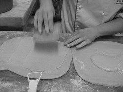 Smoothing on the almond paste