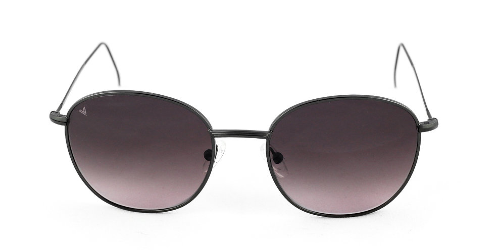 Maverick C01 Satin shiny black - Dark purple degrade lens