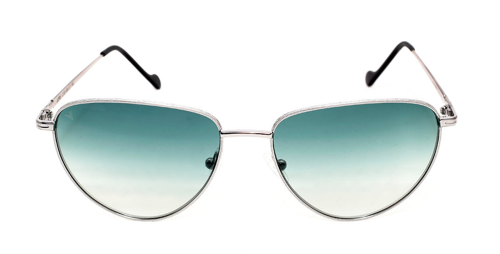 Jorie C03 Shiny Gun Metal - Green Degrade Lens