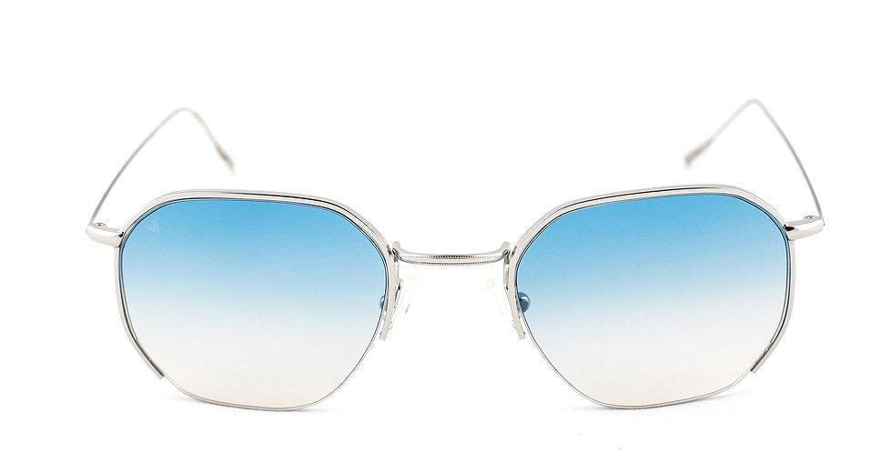 Emmy C02 Shiny Silver - Azure degrade lens